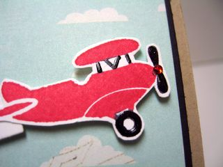 Close up red plane
